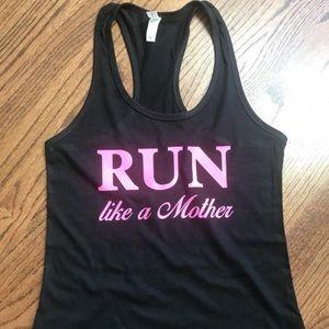 Run like a Mother racer back tank